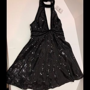 NWT Free People Black sequin dress size 4